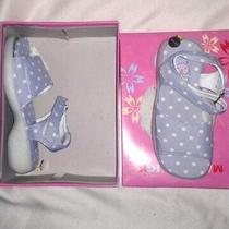 Girl's Light Blue Polka-Dot Sandal W/ Alternate Top Sz Child 10 Photo