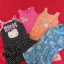 Girl's Lot 3 Dresses & 1 Romper  Sz 6-6x  Hartstrings Hello Kitty Disney Cherrys Photo