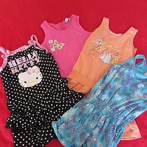 Girl's Lot 3 Dresses & 1 Romper  Sz 6-6x  Hartstrings Hello Kitty Disney Cherrys Photo