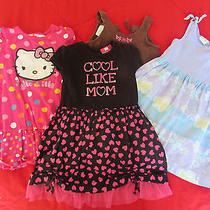 Girl's Lot 4 Dresses  Sz 4t Wonder Kids Hello Kitty Kalula Kids Cotton Spring Photo