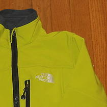 Girl's North Face Softshell Jacket Sz Large Green/yellow Bright Color Fits 9 10 Photo