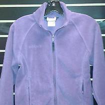 Girl's Purple Purple Columbia Fleece Jacket Size 10/12 Photo