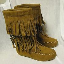 Girls Rampage Suede Boots Size 1 Youth M New Chestnut Brown Photo