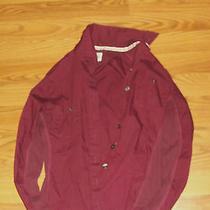 Girl's Red Dress Shirt  Size Xs Photo
