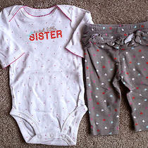 Girl's Size 0-3 M Months 2 Piece Carter's