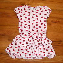 Girl's Size 3-4 Years H & M Strawberry Print Dress Photo