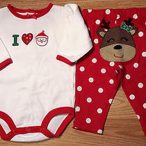 Girl's Size 3 M 0-3 Months 2 Pc Carter's