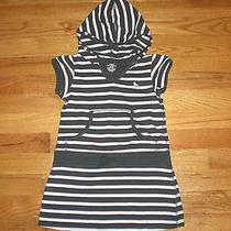 Girl's Size 4-5 H & M Short Sleeve Stripe Dress With Hood Photo
