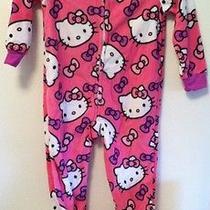 Girl's Size 4 Hello Kitty Fleece Sleeper - Pajamas Footed Pink Photo
