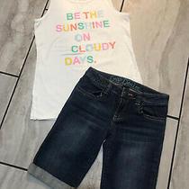 Girls Size Large 10/ 12 Cat & Jack Tank & Gap Bermuda Set Photo