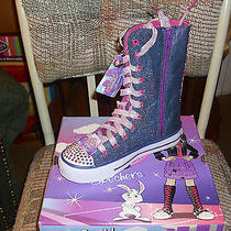 Girl's Skechers Shuffles Hot Shot Denim Purple Sneaker  Boot Sz 12.5 New in Box Photo