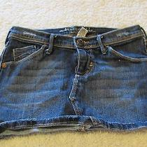Girl's Sz 10 Abercrombie & Fitch Factory Destroyed Denim Jeans Skirt Jean Photo