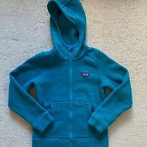 Girl's Teal Patagonia Better Sweater Full Zip Hoodie Jacket Small (7/8) Photo