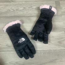 Girl's the North Face Black/purdy Pink Mossbud Swirl Gloves Sz M  Photo