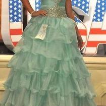 Girl's Tiffany Size 6 Mint Green Pageant Dress Photo