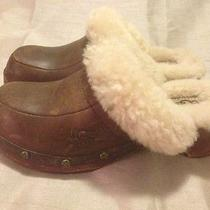 Girl's Ugg Sheepskin Clogs Size 1 Photo
