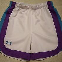 Girl's Under Armour Heat Gear Athletic Mesh Shorts Size Medium Photo