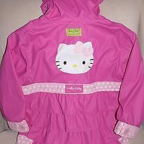 Girl's Western Chief Rain Jacket Hello Kitty Pink Size 5/6 Photo