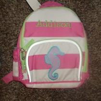 Girl Seahorse Stripe Personalized Pottery Barn Kids Mini Backpack Addison    Photo