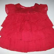 Girl  Size 3-6 Mos.  Greendog Fancy Red Dress Photo