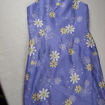Girl Size M 10-12 Purple Yellow White Floral Dress Christie Brooks Spring Summer Photo