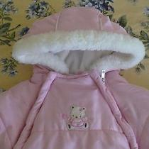 Girls 0 / 9  Months Bon Be'be'   Winter  Baby  Bunting Car Seat Stroller  Pink Photo