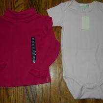 Girls 12 18mo Spring Summer Lot 2 Brand New Pink Tops Pottery Barn Baby Gap Nwt Photo