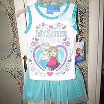 Girls 2 Piece outfit.cute nwt.frozen..my Sister My hero.bottom Is Skorts 24m Photo