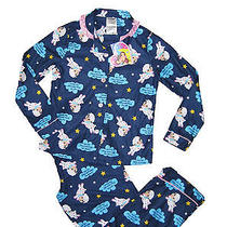 Girls 2 Piece Sheep Lamb Pajama Set Pajamas Pjs Size Medium 7/8 New Blue W/pink Photo