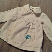 Girls 2t Spring Jacket Roxy White Denim Pea Coat  Photo