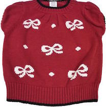 Girls 3t Carter's Red Bow Short Sleeve Sweater Photo