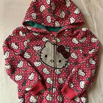 Girls 3t Sanrio Hello Kitty Hoodie Sweater Pink Teal Photo