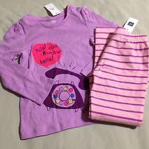 Girls 4 4t Gap Telephone Graphic Shirt Stripe Leggings Nwt Photo