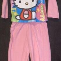 Girls 4 Fleece Hello Kitty Pajama Set Photo