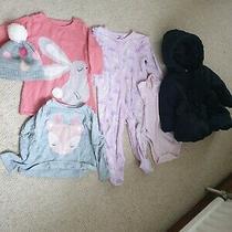 Girls 6-9/ 9-12 Months Billie Blush/ Blue Zoo/ m&s Inc Coat Winter Bundle Photo