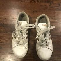 Girls Adidas Sneakers Size 5 White/gold Photo