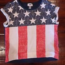 Girls American Flag Usa Memorial Day Fourth of July Top Shirt Gap Old Navy Xl 14 Photo