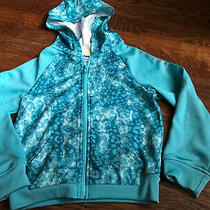 Girls Asics Aqua Green Hoodie Jacket Clothes Size 5 Photo