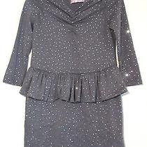 Girls' Baby Baby by Blush Gray Sequin Peplum Dress Size L Photo