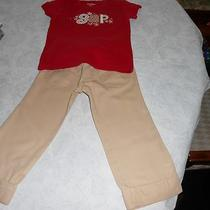 Girls Baby Gap 2 Pc Tshirt and Pants Set Size 4 T Photo