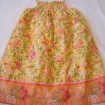 Girls Baby Gap 3t Yellow Floral Print Smocked Dress Sundress Photo
