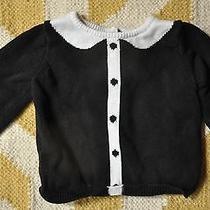 Girls Baby Gap Black and White Sweater Sz 6-12 Months Euc Photo