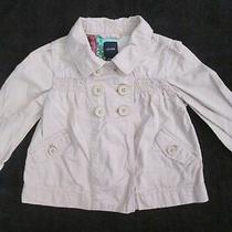 Girls Baby Gap Double Breasted Beige Khaki Spring Rain Trench Coat 18-24 Months Photo