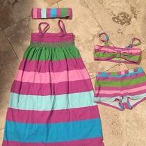 Girls Baby Gap Dress 4y 5 Headband & Swimsuit Very Nice Lk Bin 3 Photo
