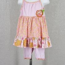 Girls Baby Lulu Light Pink Flowers Meredith Cotton Dress & Shortie Play Set 24 M Photo