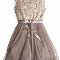 Girls' Big Girls' Glitter Lace/party Tulle Dress Blush Size 16 Dsjp Photo