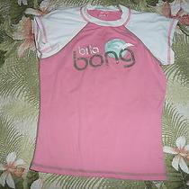Girls Billabong Rash Guard Shirt Short Sleeve Womens Pink Beach Surfing Surf Photo