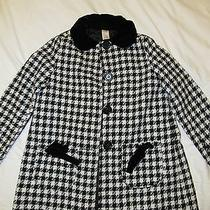Girls Black and White Dress Coat Sz 10/12 Photo