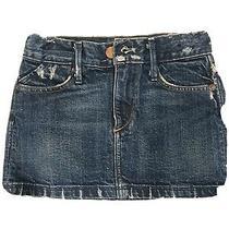Girls Blue Denim Skirt Size 5 Earnest Sewn Adjustable Photo