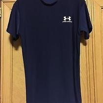 Girls Blue Fitted Heat Gear Under Armour T-Shirt Md Photo